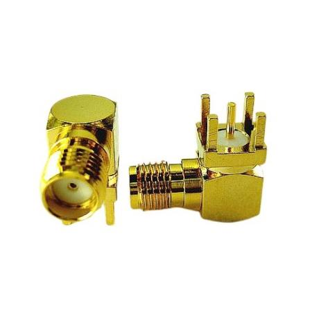 SMA R/A Jack For PCB Mount Connector Supplier TAIWAN